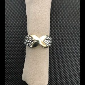 David Yurman X Two Tone Cable Ring